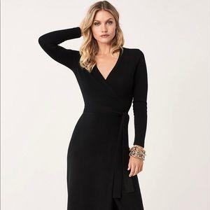 Iconic DVF wrap dress wool/cashmere/angora